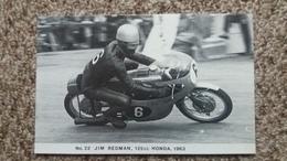 CPM MOTO N° 22 JIM REDMAN 125 CC HONDA 1963 BSC FAMOUS TT RIDER SERIES LIMITED EDITION OF 1000 PHOTO RANSCOMBE - Motos