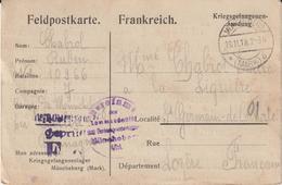 Ar RC, 184 : CPFM  Prisonnier De Guerre Français Müncheberg  13/11/1918 ! Enfin !... - Guerra Del 1914-18