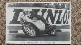 CPM MOTO N° 20 BOB MC INTYRE 20 CC HONDA 1952  BSC FAMOUS TT RIDER SERIES LIMITED EDITION OF 1000 PHOTO RANSCOMBE - Motos