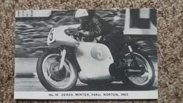 CPM MOTO N° 16 DEREK MINTER 348 CC NORTON 1962 BSC FAMOUS TT RIDER SERIES LIMITED EDITION OF 1000 PHOTO RANSCOMBE - Motos