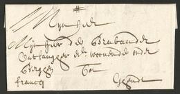Belgique - Précurseur - LAC De Zottegem Vers Gand Du 20/02/1715 - - 1714-1794 (Pays-Bas Autrichiens)