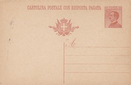 Carte Entier Postal Cartolina Postale Con Risposta Pagata - 1900-44 Victor Emmanuel III
