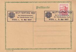 Carte Entier Postal Postkarte Muttertag 1937 - Entiers Postaux
