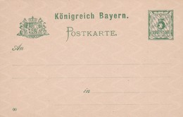 Carte Entier Postal Postkarte Königreich Bayern - Duitsland