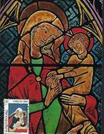 Luxembourg  -   CARITAS  1980  -  5821 MADONNA , Oberschwäb.Glasmalerei , 1300 Heiligkreuzthal - Maximum Cards