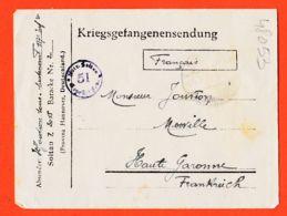 Wes070 Stalag SOLTAU 51 Z 3015 Kriegsgefangenensendung Camp Prisonniers 1918 De JOUVION Lieutenant 117eMerville CpaWW1 - Soltau