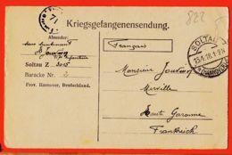 Wes003 Stalag SOLTAU Z 3015 Baracke 2 Kriegsgefangenensendung Camp Prisonniers 15-04-1918 De JOUVION 117e Infanterie - Soltau