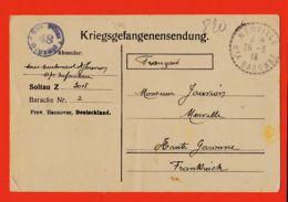 Wes008 Stalag SOLTAU 48 Z 3015 Baracke 2 Kriegsgefangenensendung Camp Prisonniers 25-02-1918 De JOUVION à Père Merville - Soltau
