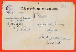 Wes012 Stalag SOLTAU 88 Z 3015 Kriegsgefangenensendung Lisez ! 10-09-1917 De Henri JOUVION 117e Infanterie Merville - War 1914-18