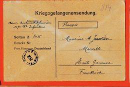 Wes014 Stalag SOLTAU 82 Z 3015 Camp Prisonniers Adj LEPAPE Et BUSQUET Aspirant ROUGER 10-10-1917 De JOUVION Merville - Soltau