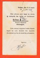 Wes015 Stalag SOLTAU III Provinz Hannover Camp Prisonniers Carte ADRESSAGE COLIS  30-07-1917 De JOUVION Merville - Soltau