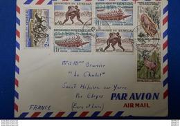 46 SENEGAL LETTRE 1962 POUR ST HILAIRE PAR AVION AFFRANCHISSEMENT PLAISANT - Sénégal (1960-...)