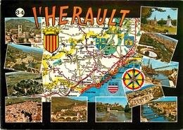 CARTE GEOGRAPHIQUE L'HERAULT - Mapas