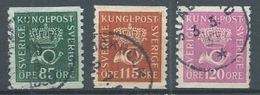 Suède YT N°219-220-221 Cor Postal Oblitéré ° - Schweden