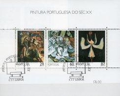 Moderne Gemälde 1989 Portugal Block 63 O 7€ Stilleben Lärm Brotzeit Simumis Hoja M/s Sheet Art Ss Bloc Bf Paintings - 1910-... Republic