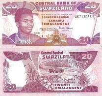 SWAZILAND 20 Emalangeni 1998 P 25 C UNC - Swaziland