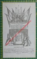 A.B. Dirckx - 1863 - Illuminatie - Rotterdam Mosseltrap 11-22 - Historical Documents
