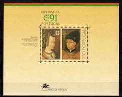 Kultur-Festival 1991 Portugal Block 79 ** 10€ Europa-Sterne Gemälde Isabella Hb Painting Ss Bloc Royal Sheet Bf Art - 1910-... Republic