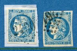 France - YT N° 46B - Oblitéré Gros Chiffres - 1870 - 1870 Emissione Di Bordeaux