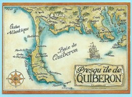 0669 - BRETAGNE - QUIBERON BAY - MAP - Cartes Géographiques