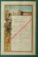 Paquebot Ava - 1894 - Imp Marseillaise R. Sainte 39 - Messageries Maritimes - Menus