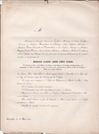 LAEKEN Jacques-André COGHEN 66 Ans 1858. Ministre Des Finances Croix De Fer 1830 Sénateur MOSSELMAN DU CHENOY LIMNANDER - Obituary Notices