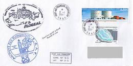 TAAF - Ile Kerguelen. Base Port Aux Français - Frégate De Surveillance Floréal. Chapelle Notre Dame Des Vents - Brieven En Documenten