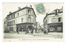 93 SEINE SAINT DENIS GAGNY  Rue Du Raincy Et Gendarmerie Café épicerie - Gagny