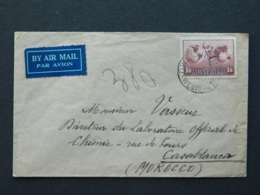 1937 Letter From Western Australia To Morocco - Briefe U. Dokumente