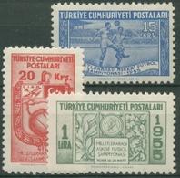 Türkei 1955 Internationale Militärmeisterschaft Im Fußball 1429/31 Postfrisch - Nuovi
