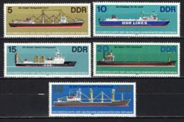 DDR - 1982 - NAVI - IMBARCAZIONI D'ALTO MARE - MNH - Neufs
