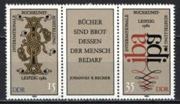 """DDR - 1982 - ESPOSIZIONE INTERNAZIONALE DEL LIBRO D'ARTE """"IBA"""" - MNH - [6] Repubblica Democratica"""