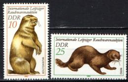 DDR - 1982 - ANIMALI DA PELLICCIA: MARMOTTA E VISONE - MNH - [6] Repubblica Democratica