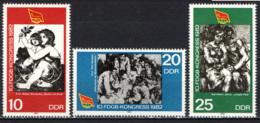 DDR - 1982 - 10° CONGRESSO DELLA CONFEDERAZIONE GENERALE TEDESCA DEL LAVORO - MNH - [6] Repubblica Democratica