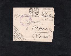 LAC 1915 - Cachet HOPITAL DEPOT DE CONVALECENTS - Cachet ORLEANS - Lettre Pour ASCOUX (Loiret) - Marcophilie (Lettres)