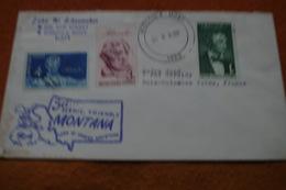 3-1436 USA To France 1959 FDC President Lincoln Missoula Montana Rodeo Cowboy - George Washington