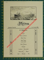 Paquebot Thysville - 1925 - Compagnie Belge Maritime Du Congo - Compagnie Maritime Belge - Menu - Menus