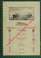 Paquebot Thysville - 1924 - Compagnie Belge Maritime Du Congo - Compagnie Maritime Belge - Menu - Menus