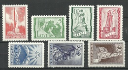 LETTLAND Latvia 1937 Michel 246 - 252 Denkmäler * - Lettland