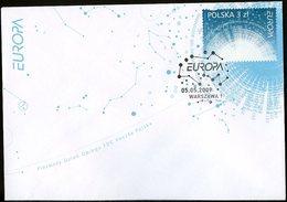 Pologne - Poland - Polen FDC 2009 Y&T N°4155 - Michel N°4425 - 3z EUROPA - échancrure En Bas - FDC