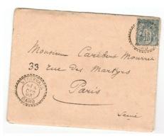 Gard - Saint Gervais - Cachet à Date 84 FB Du 8 Décembre 1893 - 1877-1920: Semi-moderne Periode