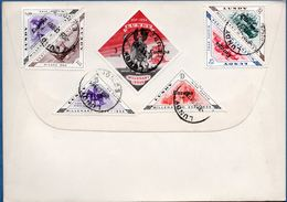 Lundy Europe 1961 Issue On FDC 7 Values Postmark 8 Dec 1961, British Cept Set On Frontside 2002.1638 - Regionale Postdiensten