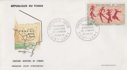 Enveloppe  FDC  1er   Jour   TCHAD     Peintures  Rupestres  De  L' ENNEDI    1967 - Préhistoire