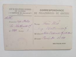 1918 - Correspondance De Prisonniers De Guerre - Postmark Collection (Covers)