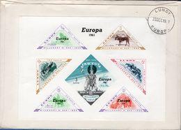 Lundy Europe 1961 Block Issue On FDC Postmark 28 Dec 1961, British 2d Cept On Frontside 2002.1639 - Regionale Postdiensten