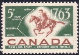 Canada Postrider Mailman Map Carte Facteur Cheval MNH ** Neuf SC (C04-13a) - 1952-.... Reign Of Elizabeth II