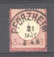 GRX 658  -  Allemagne  -  Reich  :  Mi  25  (o) Obl Pforzheim - Germany