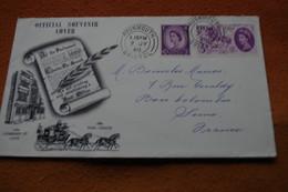 3-1429 London International Stamp Exhibition 1960 Avonmouth Bristol Dilligence Poste à Cheval Horse Post - Giornata Del Francobollo