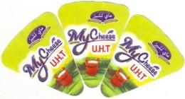 """Algérie - 3 étiquettes De  Fromage Fondu """" Mt Cheese"""".. - Fromage"""