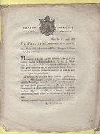 Prefet De La Manche - 8 Aout 1806 - Deces Enfants Naissance Non Enregistree - Documenti Storici
